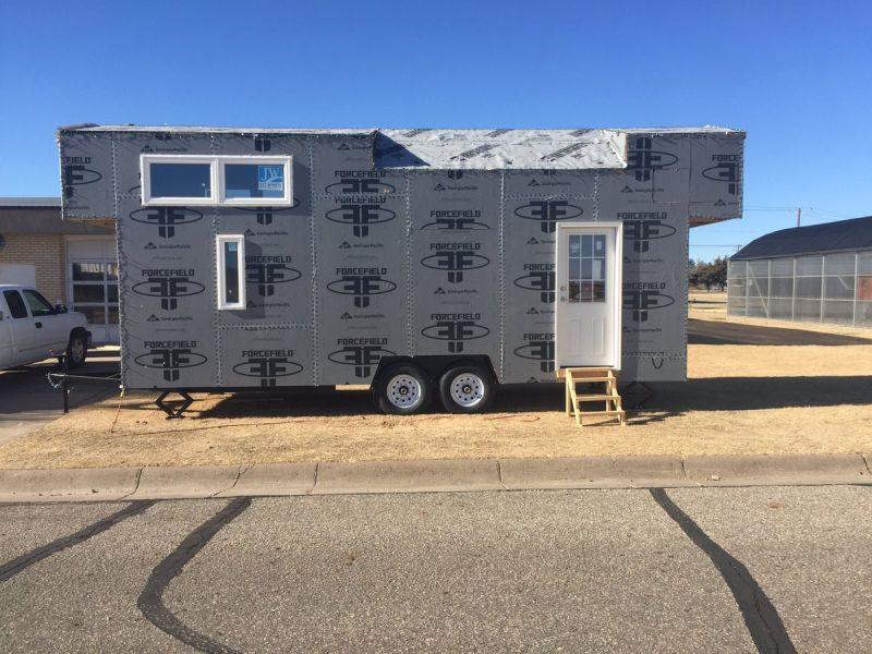 Mobile home by Ness City High School