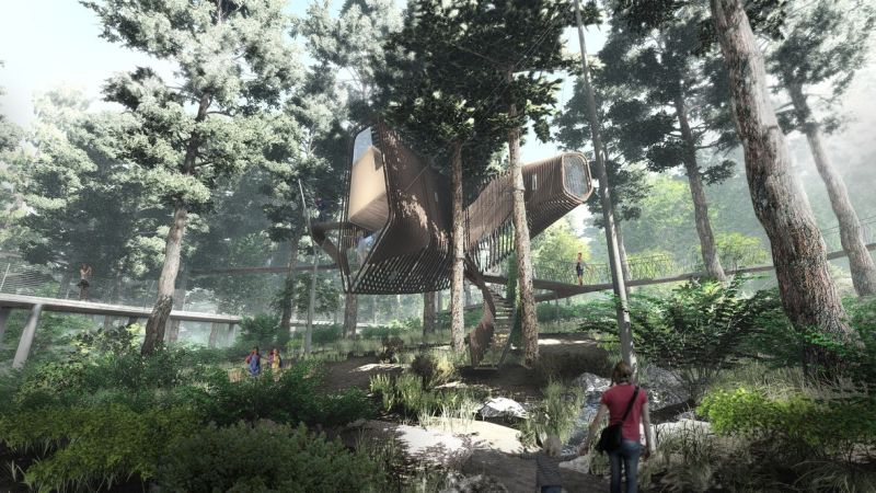 Modus Studio designs floating treehouse at Garvan Woodland Gardens