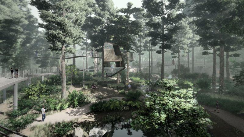 Modus Studio designs floating treehouse at Garvan Woodland Gardens