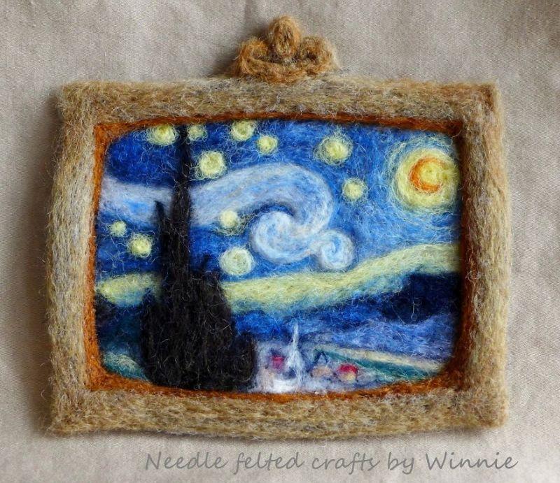 Needle felting art by Winnie Chui