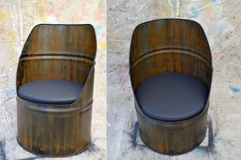 Barrel furniture by WhiteIndustrial brings industrial essence to homes