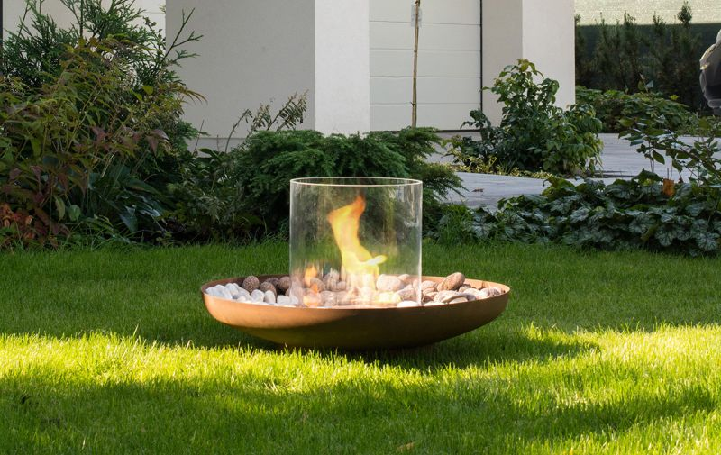 Portable bio fireplaces by Planika