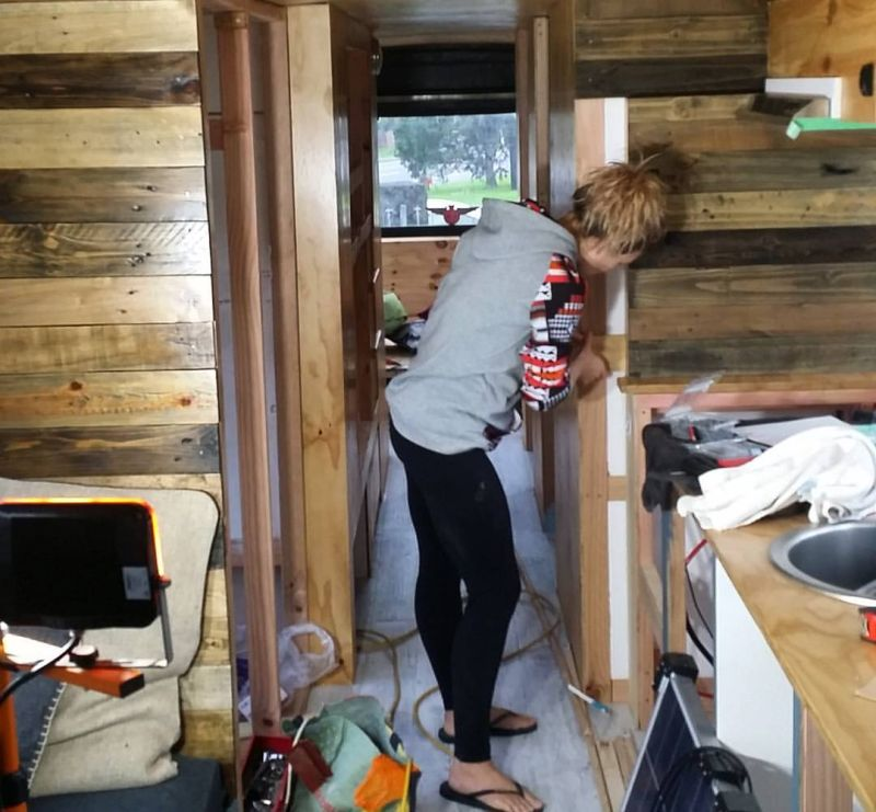 Renovated bus home by Andrew and Amber Mobile Homes