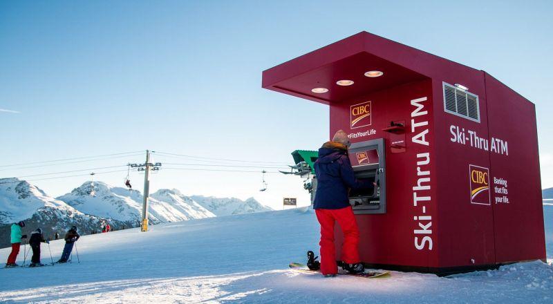 Ski-thru ATM by CIBC