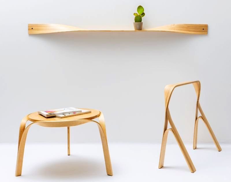 Steam bending furniture by Bar Gantz