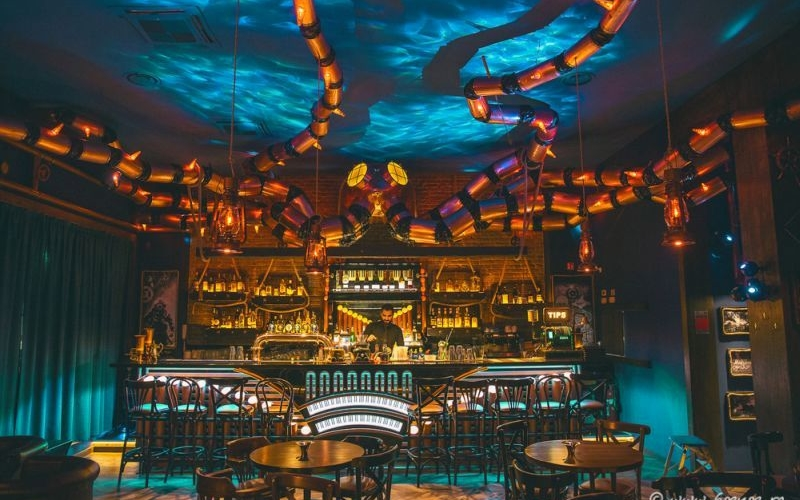 The Abyss Pub in Italy gets mind-boggling steampunk interiors