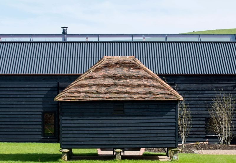 The Ancient Party Barn features mechanically operated openings