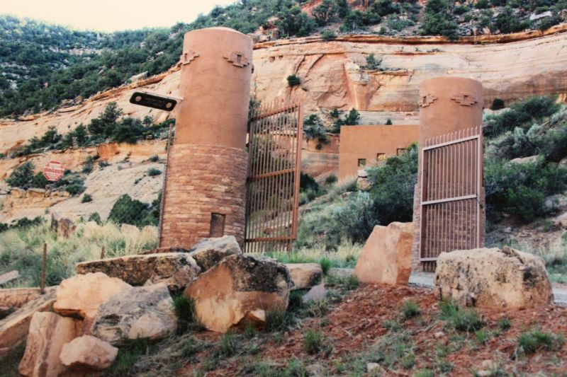 Utah cliffside house