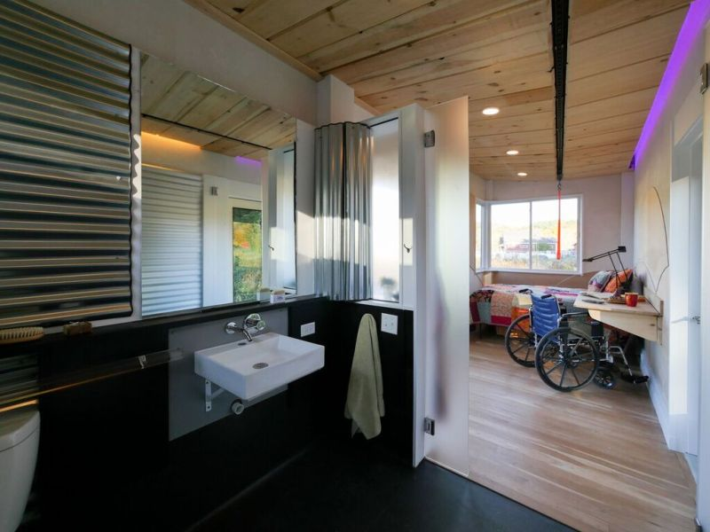 Wheel Pad by LineSync Architecture is wheelchair-accessible tiny home on wheels