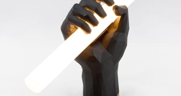 3D Printed Fist Lamp-1