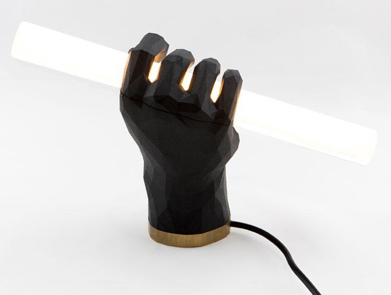 3D Printed Fist Lamp-2