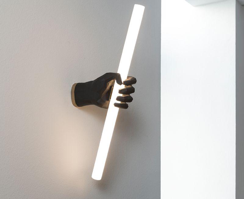 3D Printed Fist Lamp
