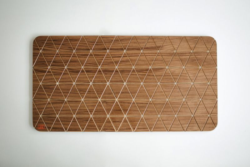 Airea wood block floor mat by Sitskie calms your legs