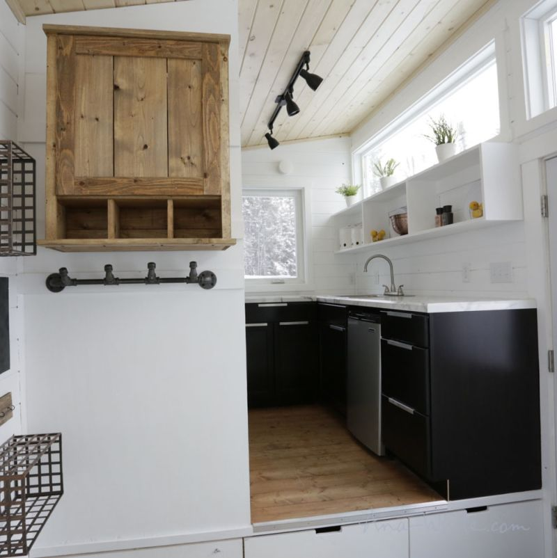 Ana White's Open Concept Tiny House Features Lounge That
