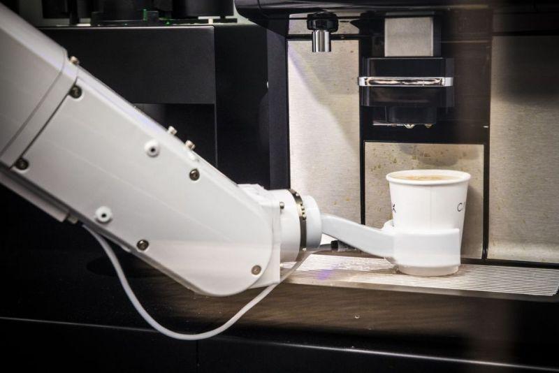 At Café X, robotic arms serves you coffee
