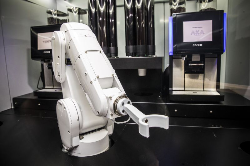 At Caf 233 X In San Francisco A Robotic Arm Serves You Coffee
