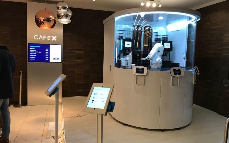 At Café X in San Francisco a robotic arm serves you coffee