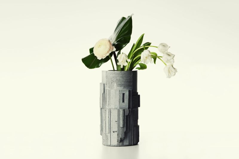 David Umemoto Designs Brutalism Inspired Concrete Vase For Larose Paris