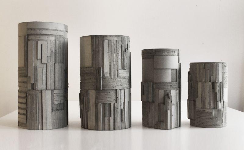 David Umemoto designs Brutalism inspired concrete vase for Larose Paris