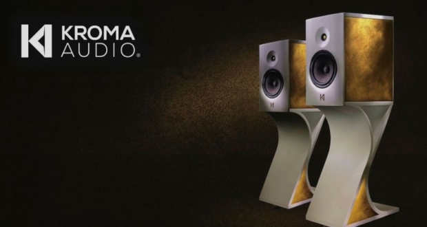 Gold-plated Julieta loudspeaker by Kroma Audio