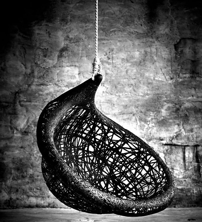 Ibis basalt hanging chair by Raimonds Cirulis