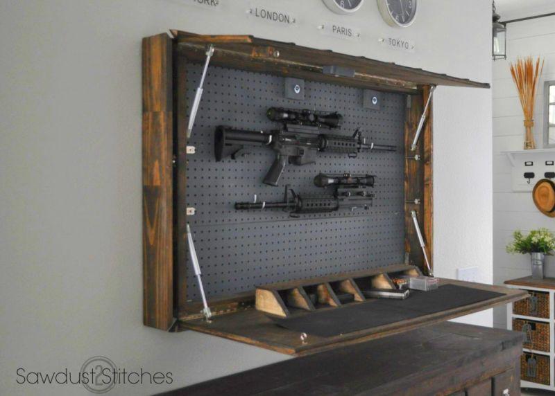 Mirror Gun Cabinet By Corey