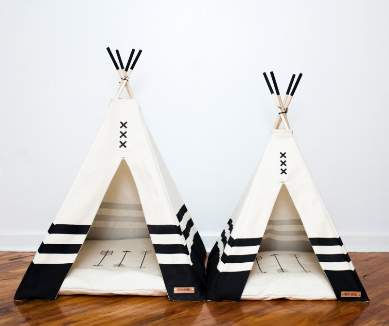 Modern pet teepee by Wild and Loyal is a unique gift for pet lovers