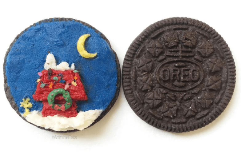 Food artist Tisha Cherry transforms Oreo cookies into works of art