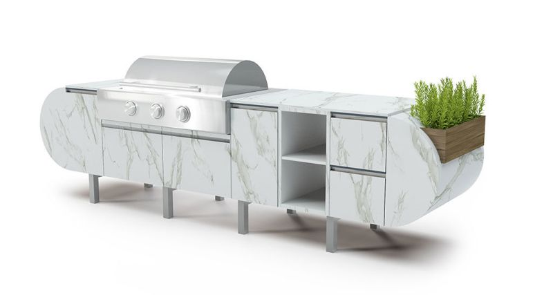 ASA-D2 is a top-notch outdoor kitchen for backyard parties