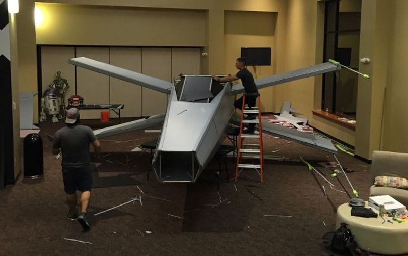 how to build a life size x-wing fighter