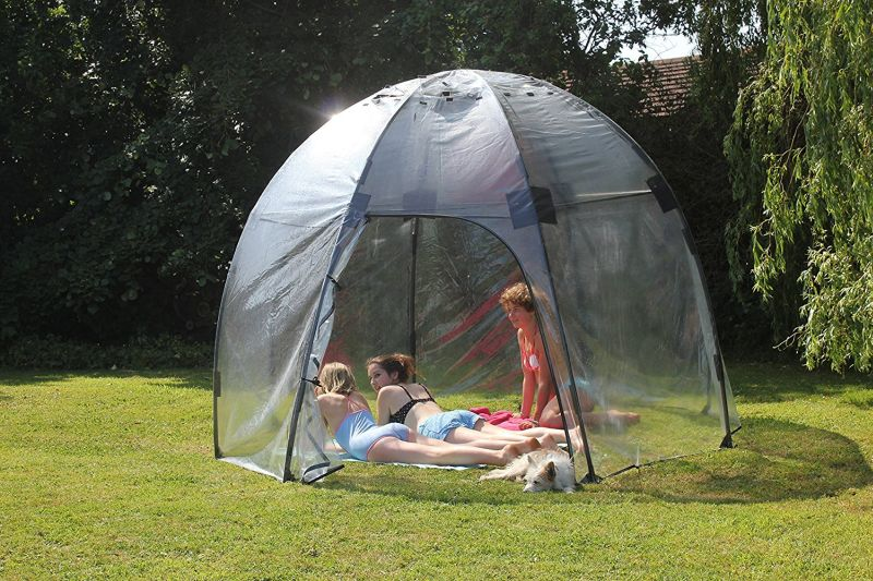 Haxnicksu0027 Sunbubble Backyard Greenhouse Doubles As Lilu0027 Chill Pod