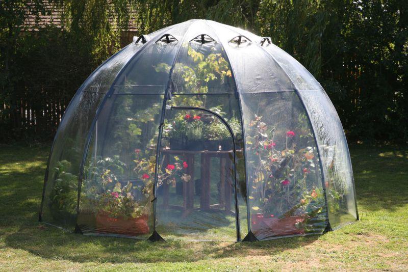 Sunbubble by Haxnicks is portable backyard greenhouse