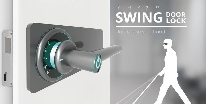 Swing Door Lock Comes With Blind Friendly Mechanism