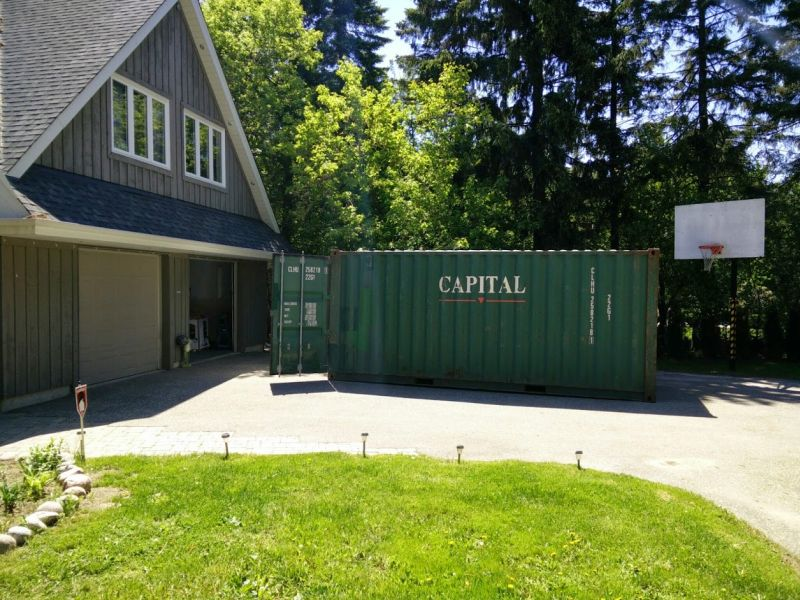 transforms shipping container into an underground party bunker