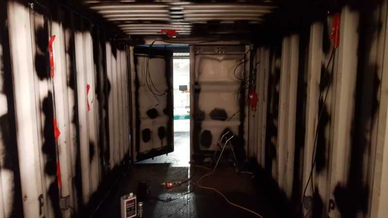 Man Transforms Shipping Container Into An Underground Party Bunker Part 97