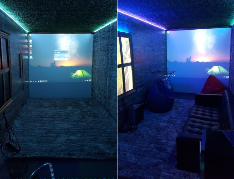 Man transforms shipping container into an underground party bunker