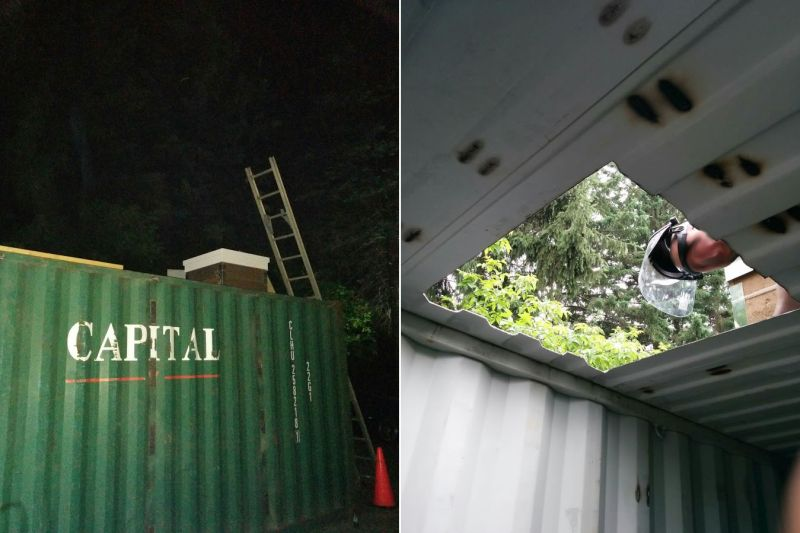 Man Transforms Shipping Container Into An Underground