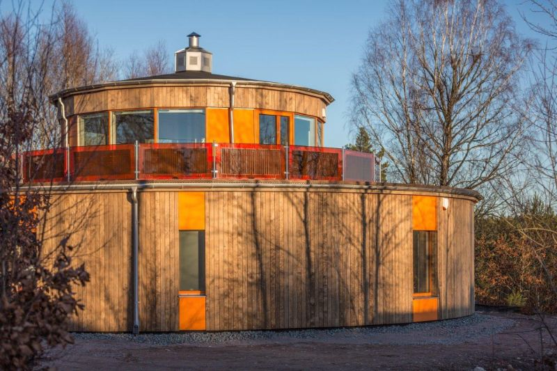 Villa Circuitus is first circular passive house of Sweden