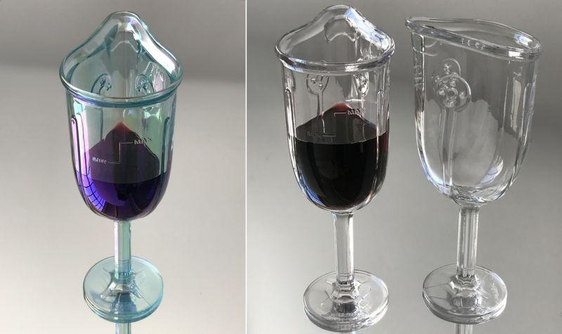 Wine Glass Mask by James Piatt