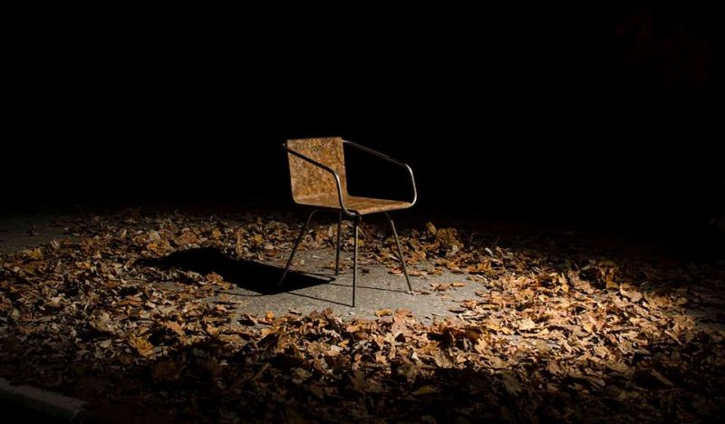 Beleaf chair by Šimon Kern is made by recycling fallen leaves