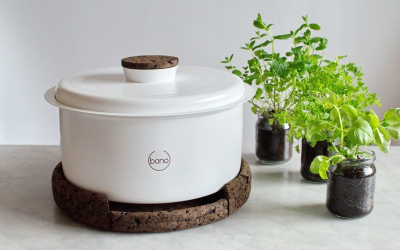 Bono by Ala Sieradzka is chic compost pot for kitchens