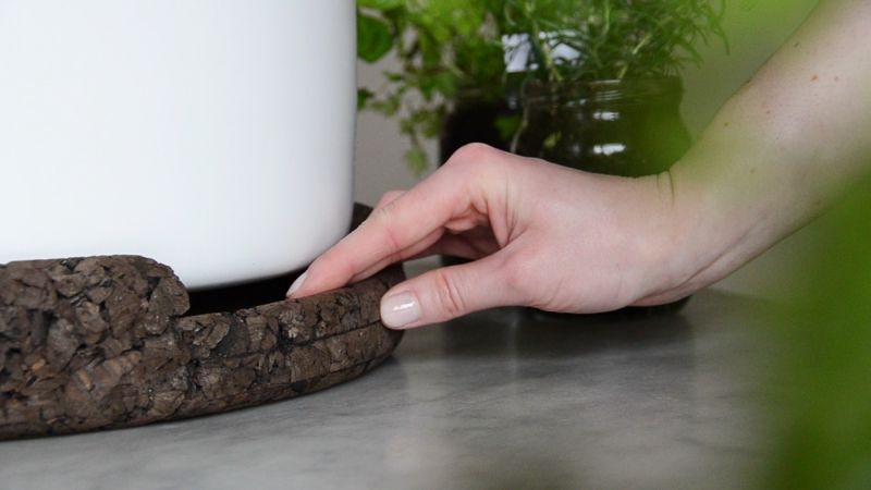 Bono by Ala Sieradzka is chic compost pot for kitchen