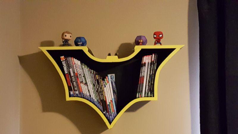 DIY Batman Bookshelf