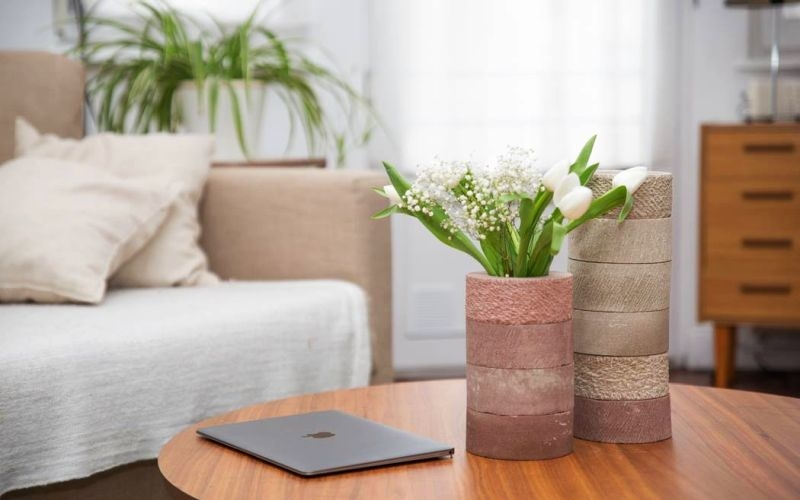 HAAFE vase can be assembled to create unique flower pot