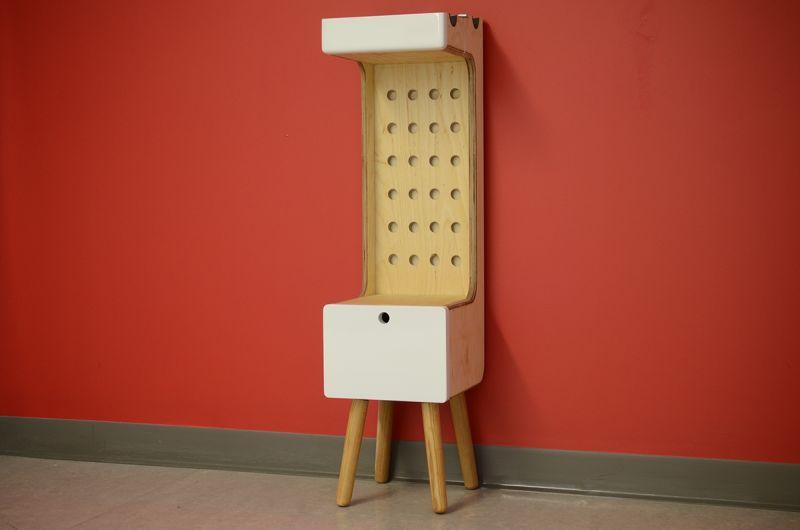 Multi-functional freestanding bike shelf by Marc V Brosseau