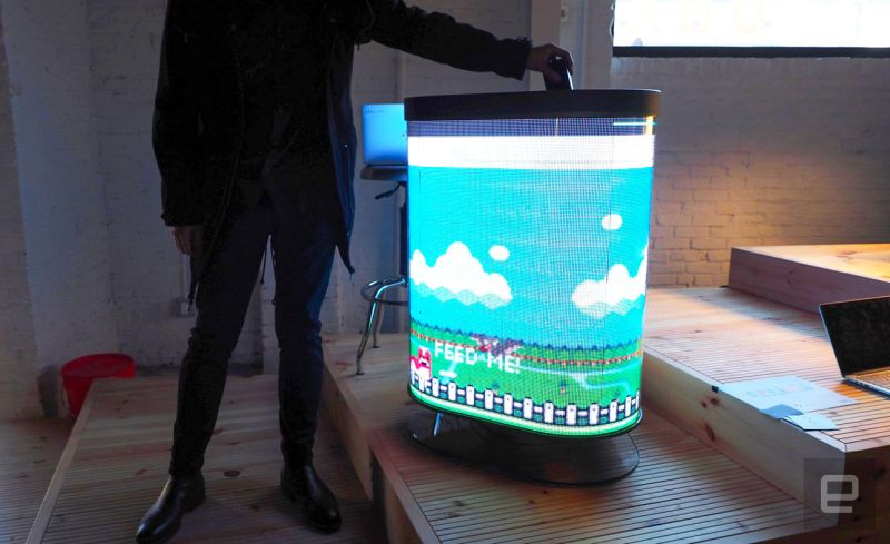 TetraBIN: Connected trash can turns litter disposal into a game