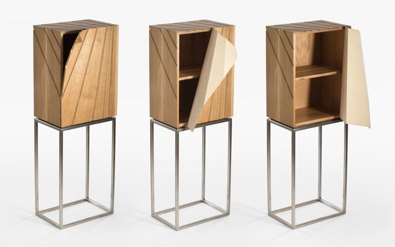 peel cabinet' has a unique peel-off front door