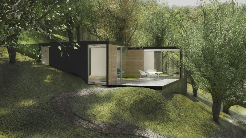 Prefab Backyard Cabin By Cover Is Made Of Pre Insulated Steel Panels