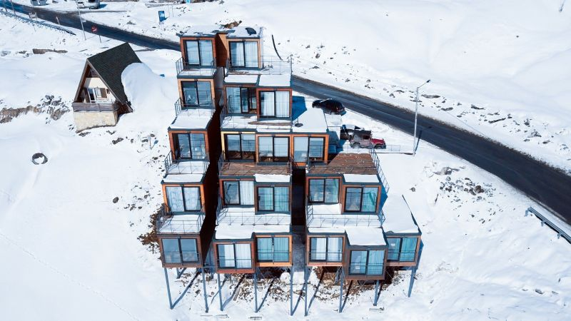 Shipping container ski resort
