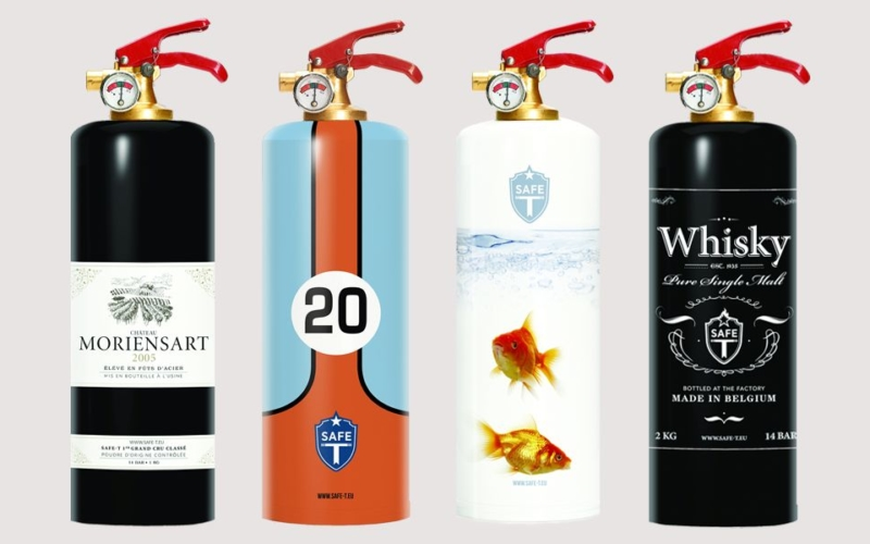 Decorative Fire Extinguisher t designer fire extinguishers fuse safety with style